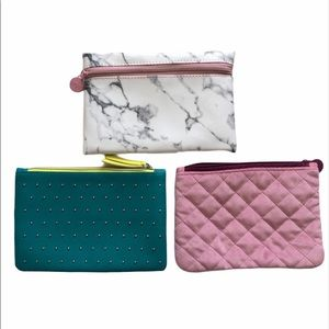 3 Ipsy bags 🛍cosmetic makeup pouch set travel bag
